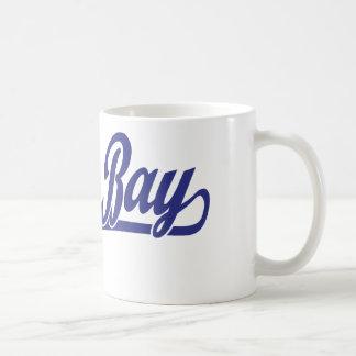 Green Bay script logo in blue Mug