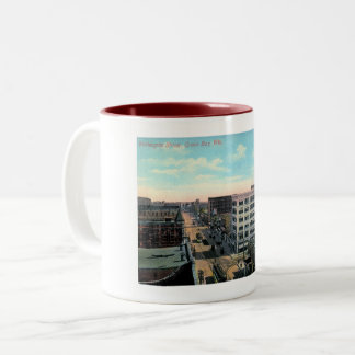 Green Bay, Wisconsin, Washington St. Vintage Two-Tone Coffee Mug