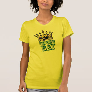 Green Bay with crown T-shirts