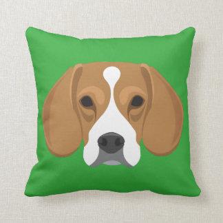 Green Beagle Cushion