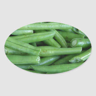 Green Bean Oval Sticker
