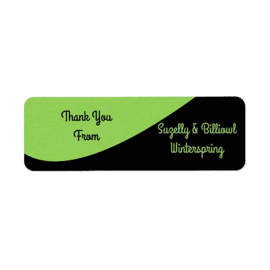 Green Bean Return Address Label