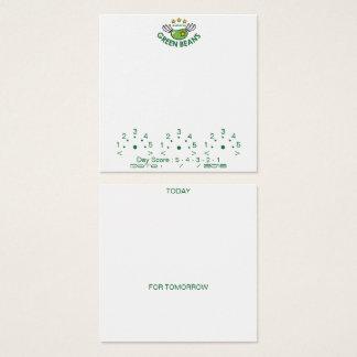 GREEN BEANS Achieve Diary Card