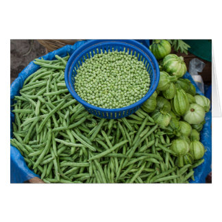 Green Beans and Peas at Farmers Vegetable Market Card