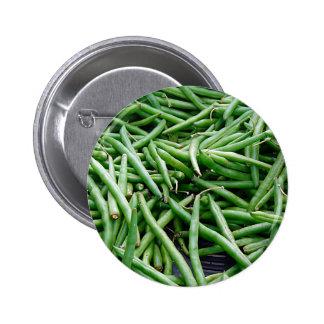 Green Beans 6 Cm Round Badge