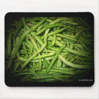 Green Beans in Spotlight Mouse Pad
