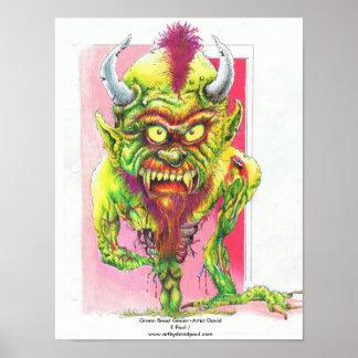 Green beast genie posters