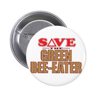 Green Bee-Eater Save 6 Cm Round Badge