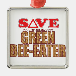 Green Bee-Eater Save Christmas Ornament