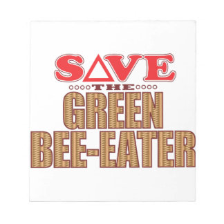 Green Bee-Eater Save Notepad