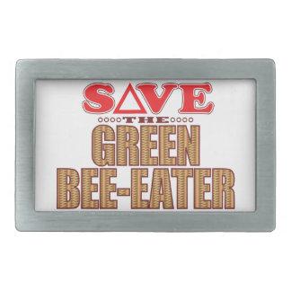 Green Bee-Eater Save Rectangular Belt Buckle