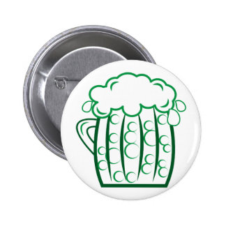 Green Beer 6 Cm Round Badge