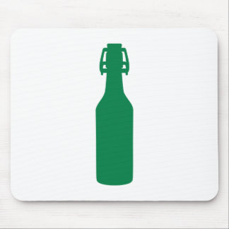Green Beer Bottle Mouse Pads