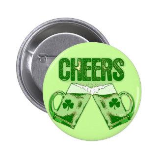 Green Beer Cheers 6 Cm Round Badge