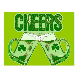 Green Beer Cheers Postcard
