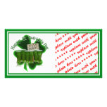 Green Beer For a Buck With Shamrock Picture Card