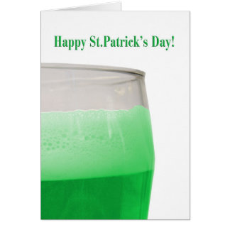 Green beer for St. Patrick's Day Greeting Card