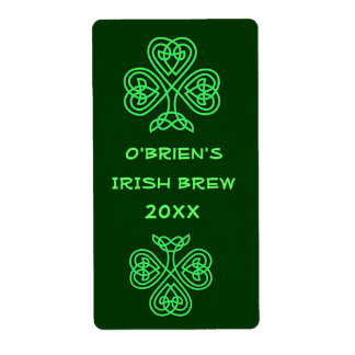 Green Beer Home Brew Label