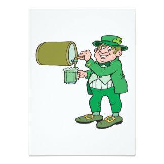 Green Beer 13 Cm X 18 Cm Invitation Card