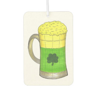 Green Beer Irish Shamrock St. Patrick's Day Clover Car Air Freshener