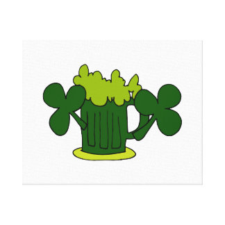 green beer mug clovers image.png gallery wrap canvas