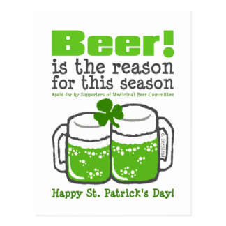 Green Beer St Patrick s Day Post Cards
