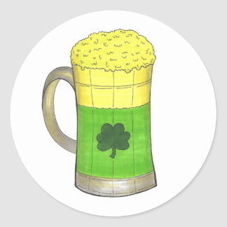 Green Beer St. Patrick's Day Shamrock Stickers