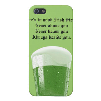 Green Beer/Toast to good Irish friends iPhone 5/5S Cases
