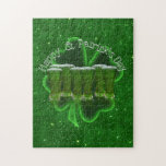Green Beer With Shamrock Jigsaw Puzzles