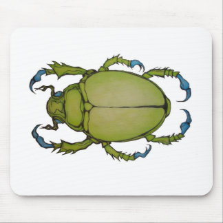 green beetle mouse pad