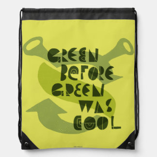 Green Before Green Was Cool Drawstring Bag