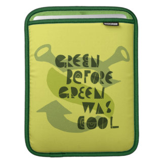 Green Before Green Was Cool iPad Sleeve