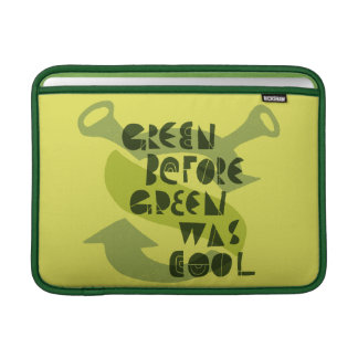 Green Before Green Was Cool MacBook Sleeve