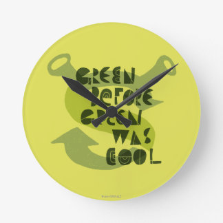 Green Before Green Was Cool Round Clock