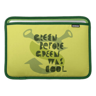 Green Before Green Was Cool Sleeves For MacBook Air