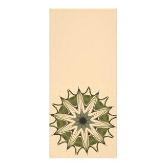 Green Beige Floral Kaleidoscope Rack Card Template