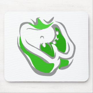 Green Bell Pepper Mousepads
