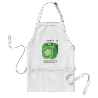 Green Bell Pepper Seed Packet Standard Apron