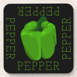 Green Bell Pepper Square Coaster