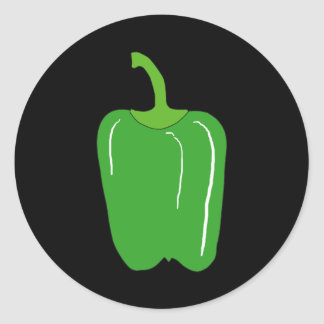 Green Bell Pepper. Whole. Classic Round Sticker