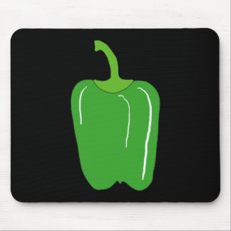 Green Bell Pepper. Whole. Mouse Pads