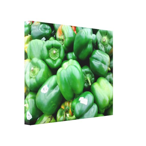 Green Bell Peppers Canvas Prints
