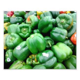 Green Bell Peppers Photograph