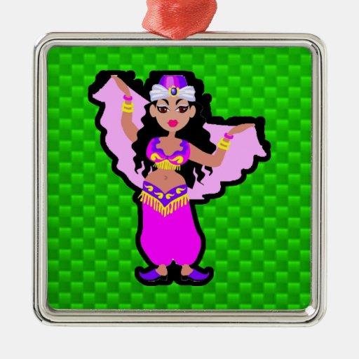 Green Belly Dancer Ornament