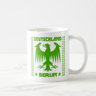 Green Berlin Deutschland German Eagle Basic White Mug