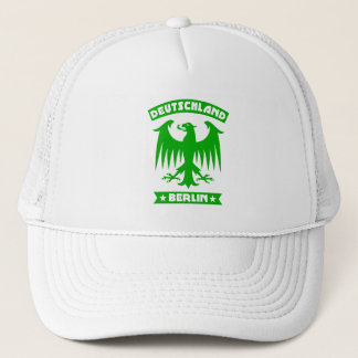 Green Berlin Deutschland German Eagle Motif Trucker Hat