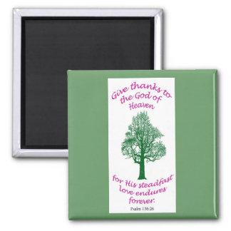Green bible verse magnet