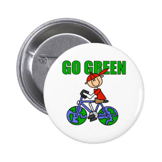 Green Bicycle Gift 6 Cm Round Badge