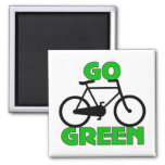 Green Bicycle Gift Fridge Magnets