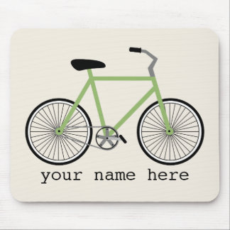 Green Bicycle Mousepad